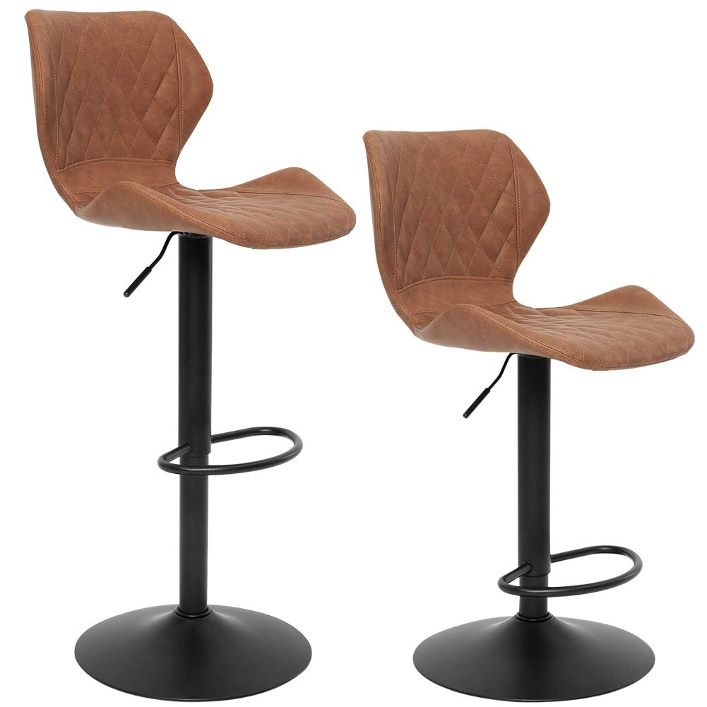 Superjare Adjustable Bar Stools - Set of 2 | low back bar stools