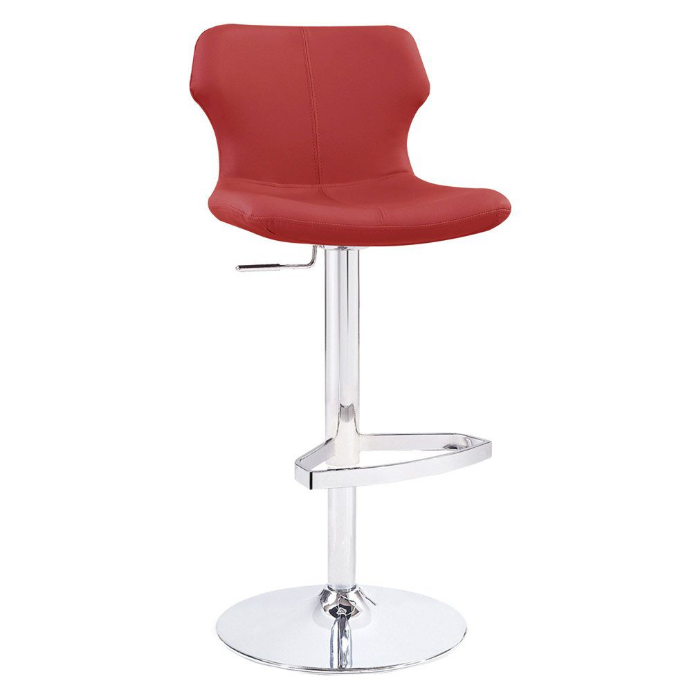 Zuri Furniture Leatherette Ellery Bar Stool | low back bar stools