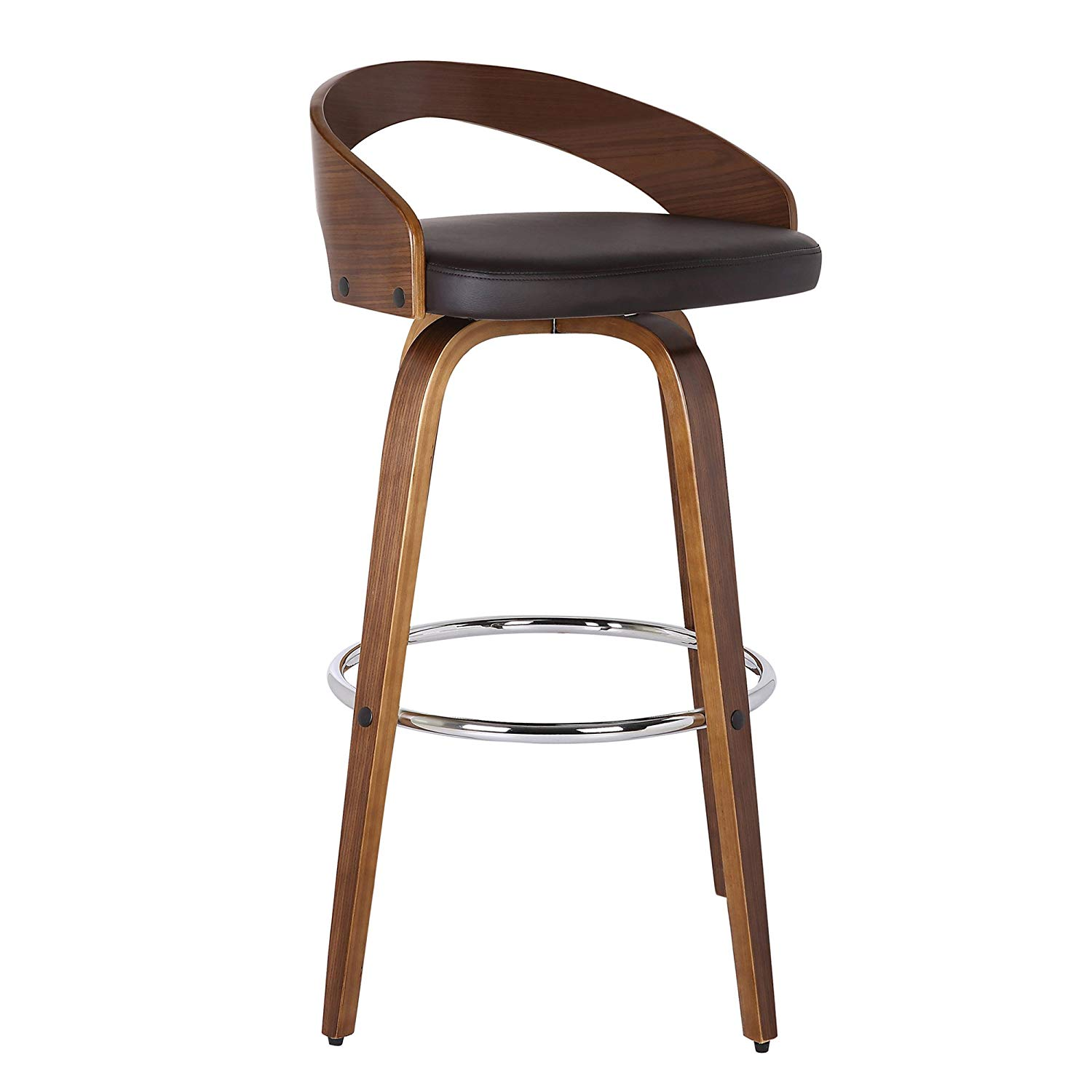 Armen Living LCSOBABRWA26 Barstool | low back bar stools