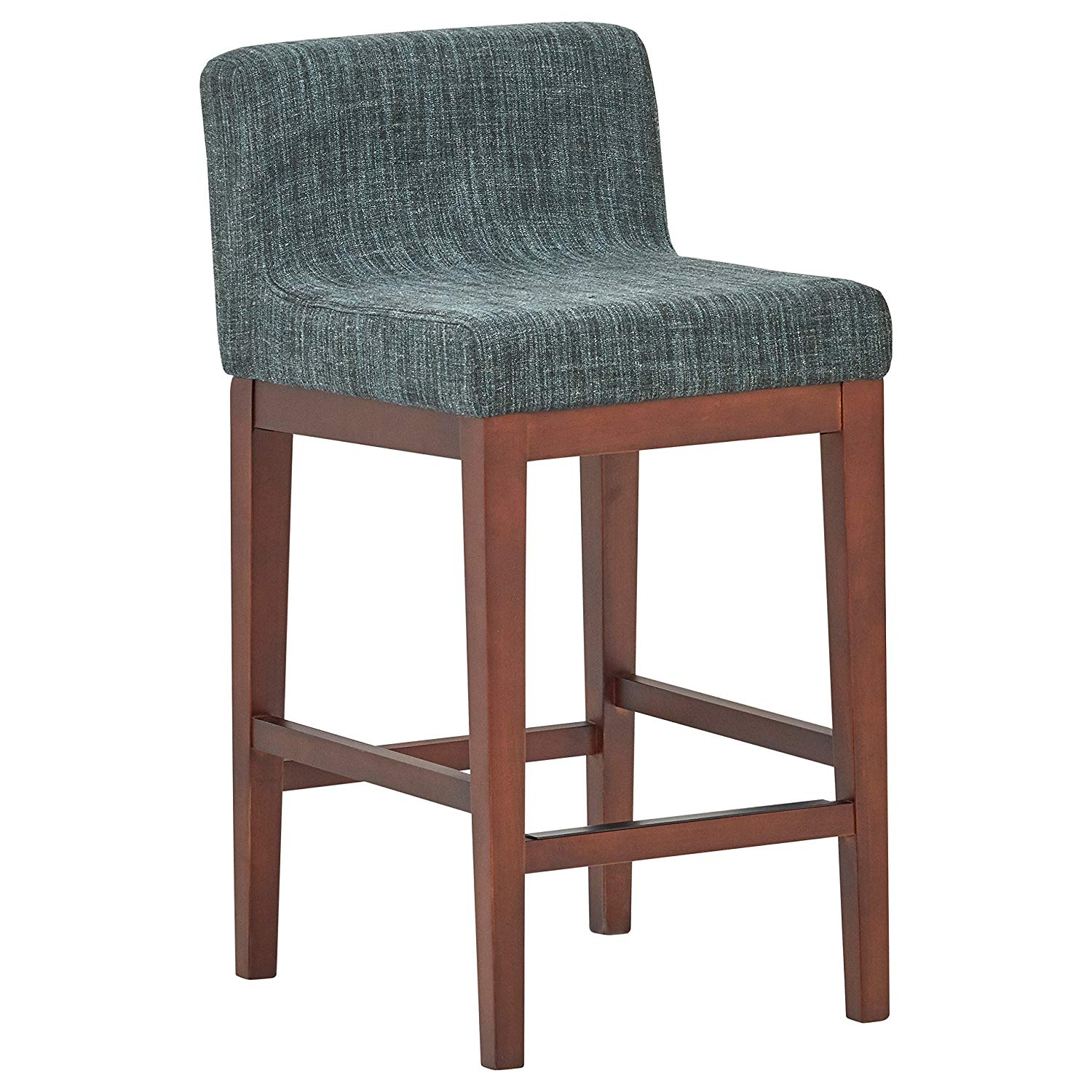 Rivet Mid-Century Low-Back Kitchen Counter Bar Stool | low back bar stools