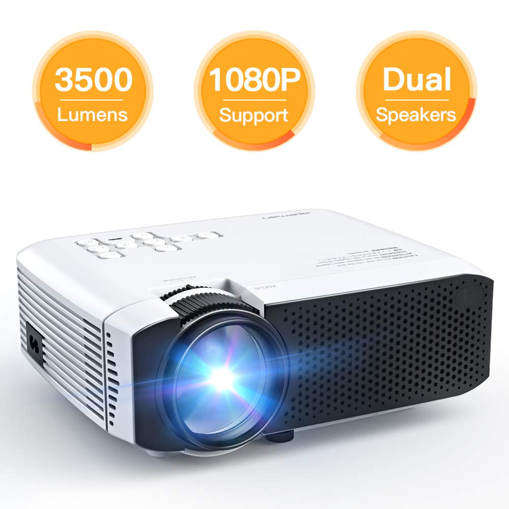 APEMAN Mini Portable 3500 Lumen Video Projector - 1080P projectors