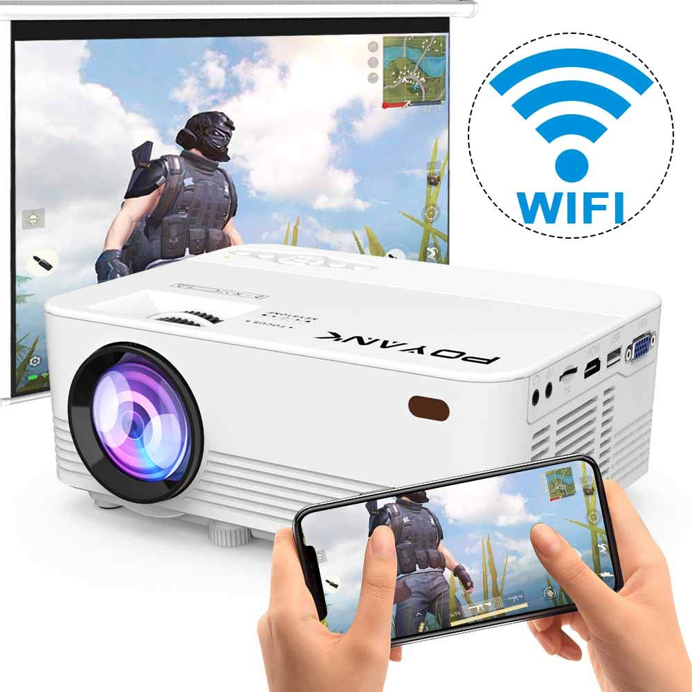POYANK 2800Lux LED Wireless Mini Projector - 1080P projectors