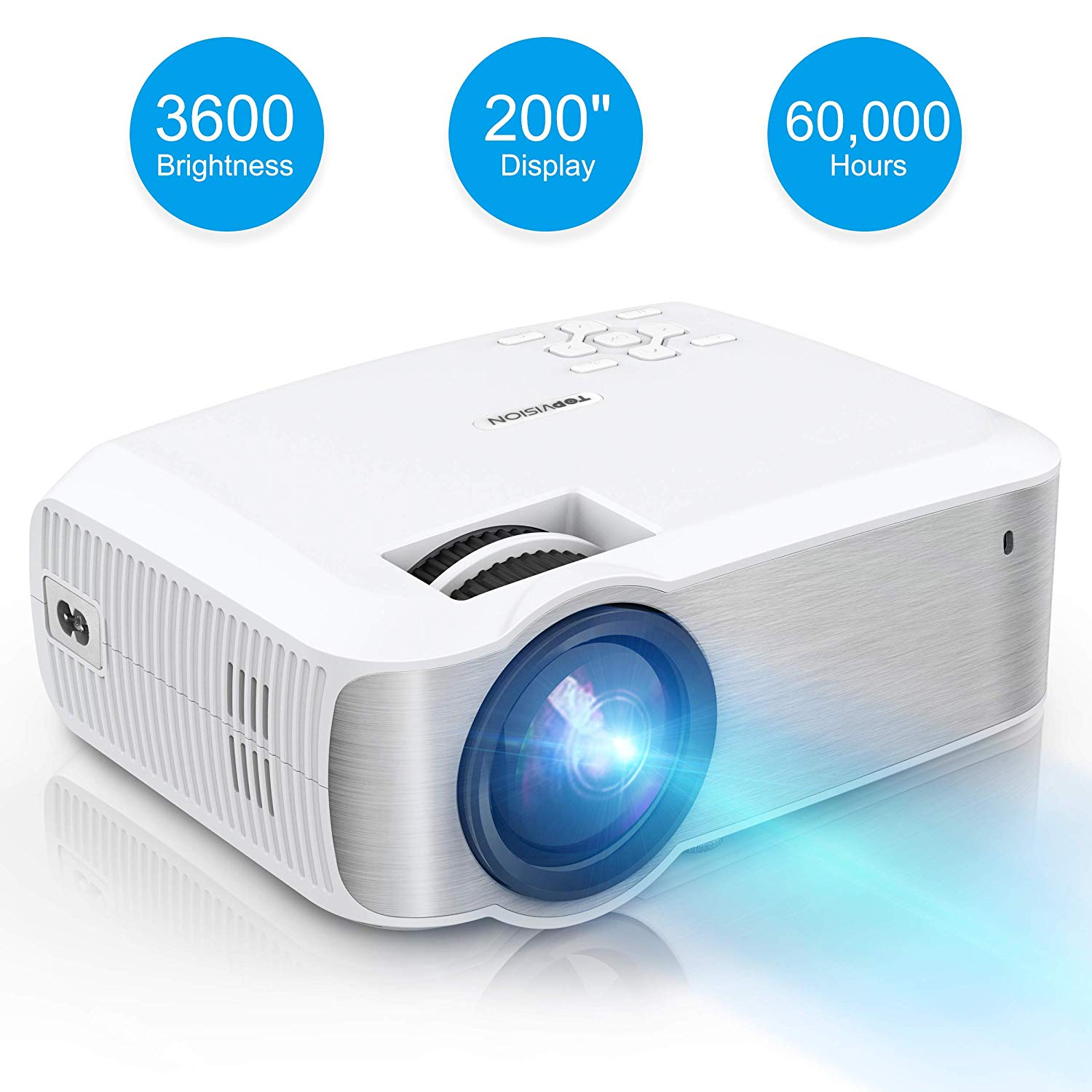 TOPVISION Full HD LED Projector: - 1080P projectors