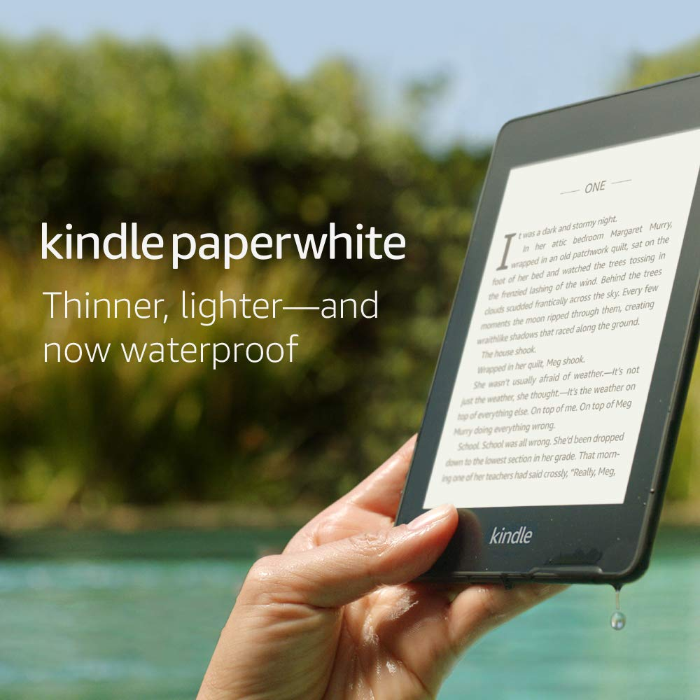 Kindle Paperwhite – Now Waterproof with 2x the Storage – Includes Special Offers - Amazon Prime Day