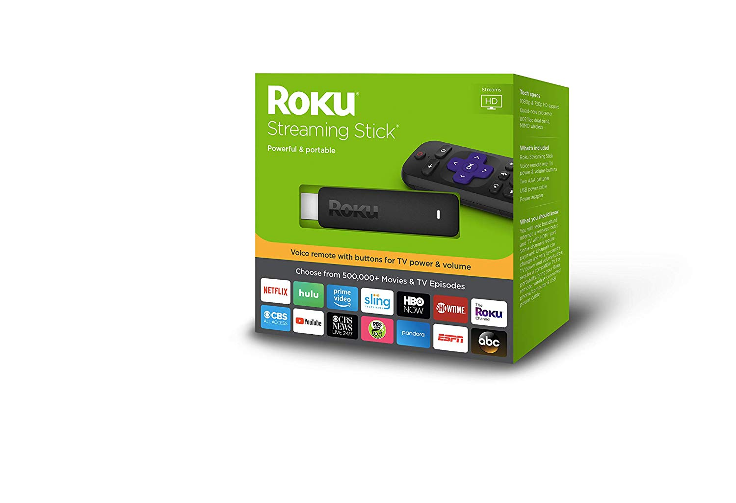 Roku Streaming Stick for TV Power as well as Volume - Amazon Prime Day