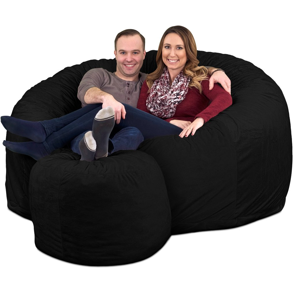 ULTIMATE SACK 6000 Bean Bag Chair w/Footstool