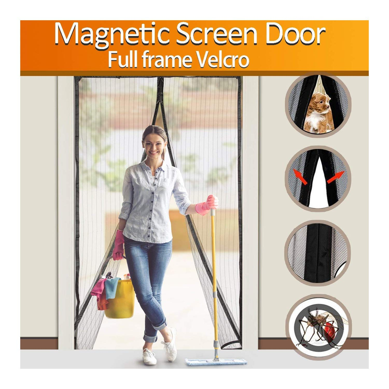 FYLINA Magnetic Screen Door Heavy Duty Screen | Best Portable Screen Doors To Buy