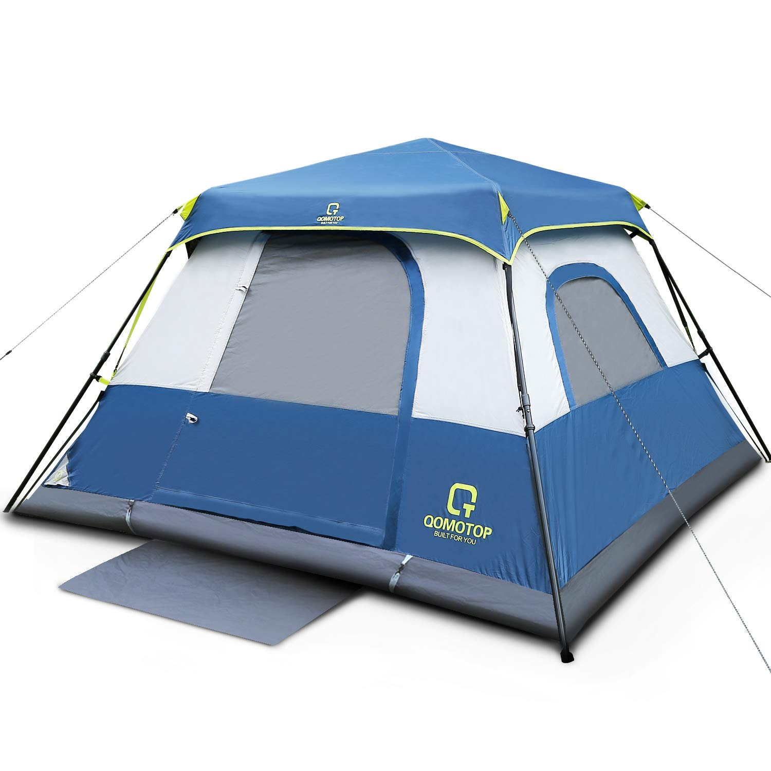 QOMOTOP 4 or 6 People Fast 60 Seconds Easy Set Up Instant Cabin Tent | Best Easiest Tents To Set Up