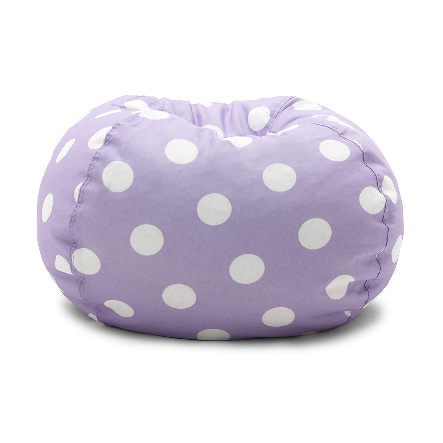 Big Joe 0630252 Lavender Polka Dot Classic Bean Bag Chair