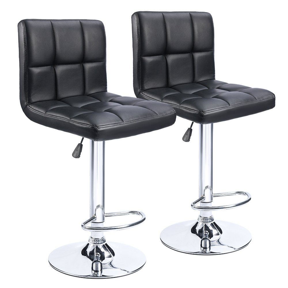 Homall PU Leather Swivel Barstools | low back bar stools