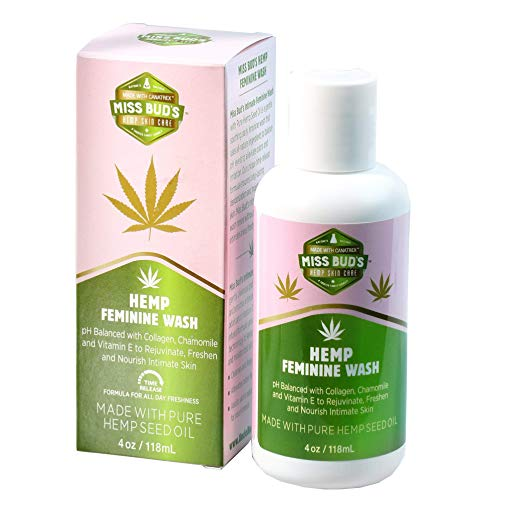 Miss Bud's Organic Hemp Intimate Feminine Wash Balanced pH Levels Green Tea and Chamomile Extract | Best Feminine Wash