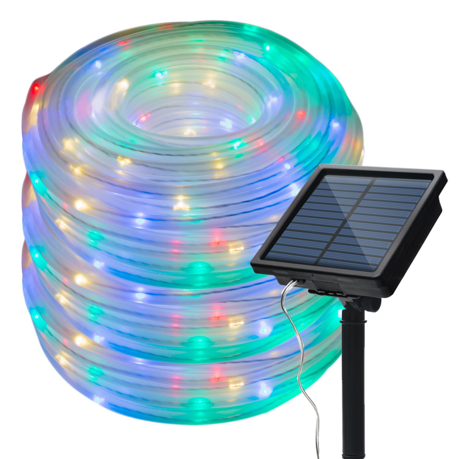 IMAGE 8 Modes Solar Rope Lights Outdoor String Lights | Best Solar Rope Lights