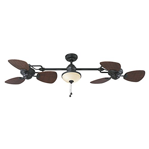 Harbor Breeze Twin Breeze Outdoor Downrod Ceiling Fan