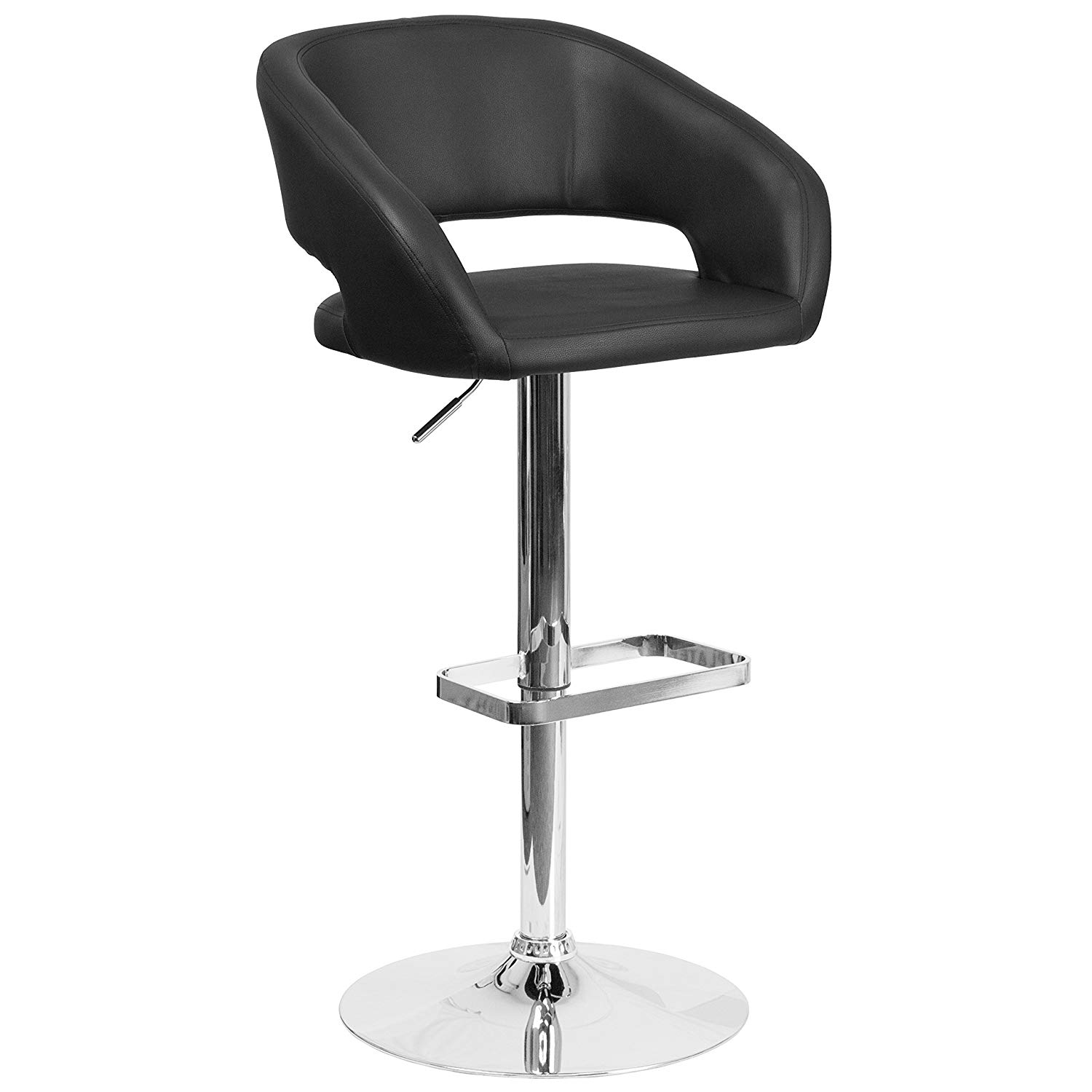 Flash Furniture Black Vinyl Barstool | low back bar stools