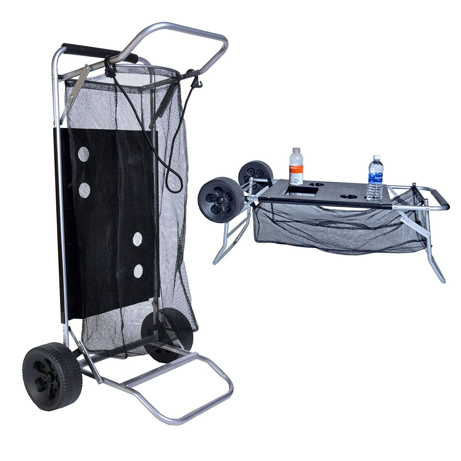 Beach Cart with Folding Table/Drink Holders | Beach wagons
