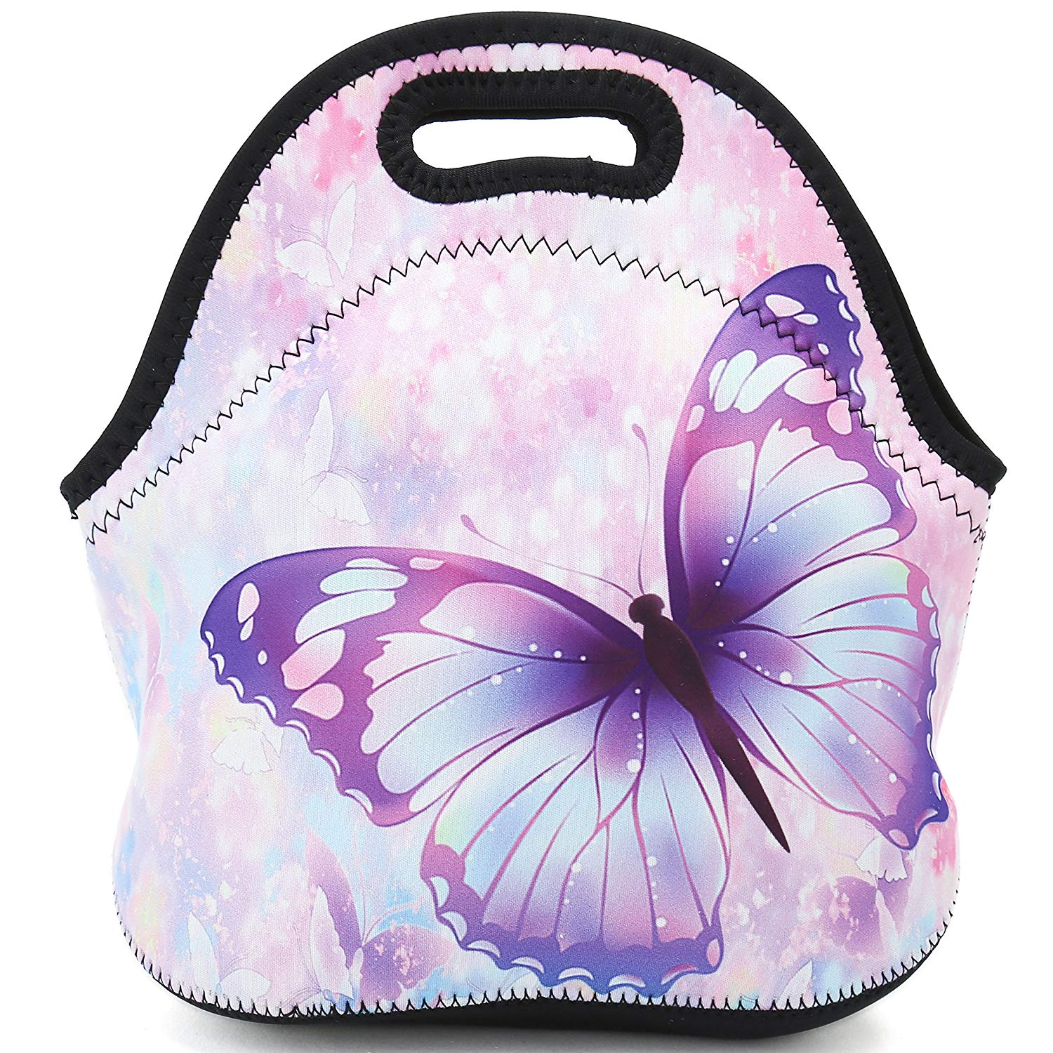 Neoprene Reusable Insulated Lunch Bag - Butterfly