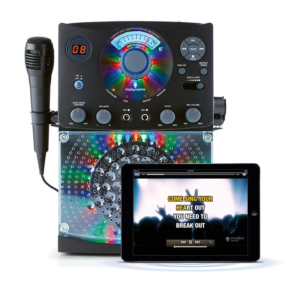 Singing Machine SML385UBK Bluetooth Karaoke System - DJ Sound System