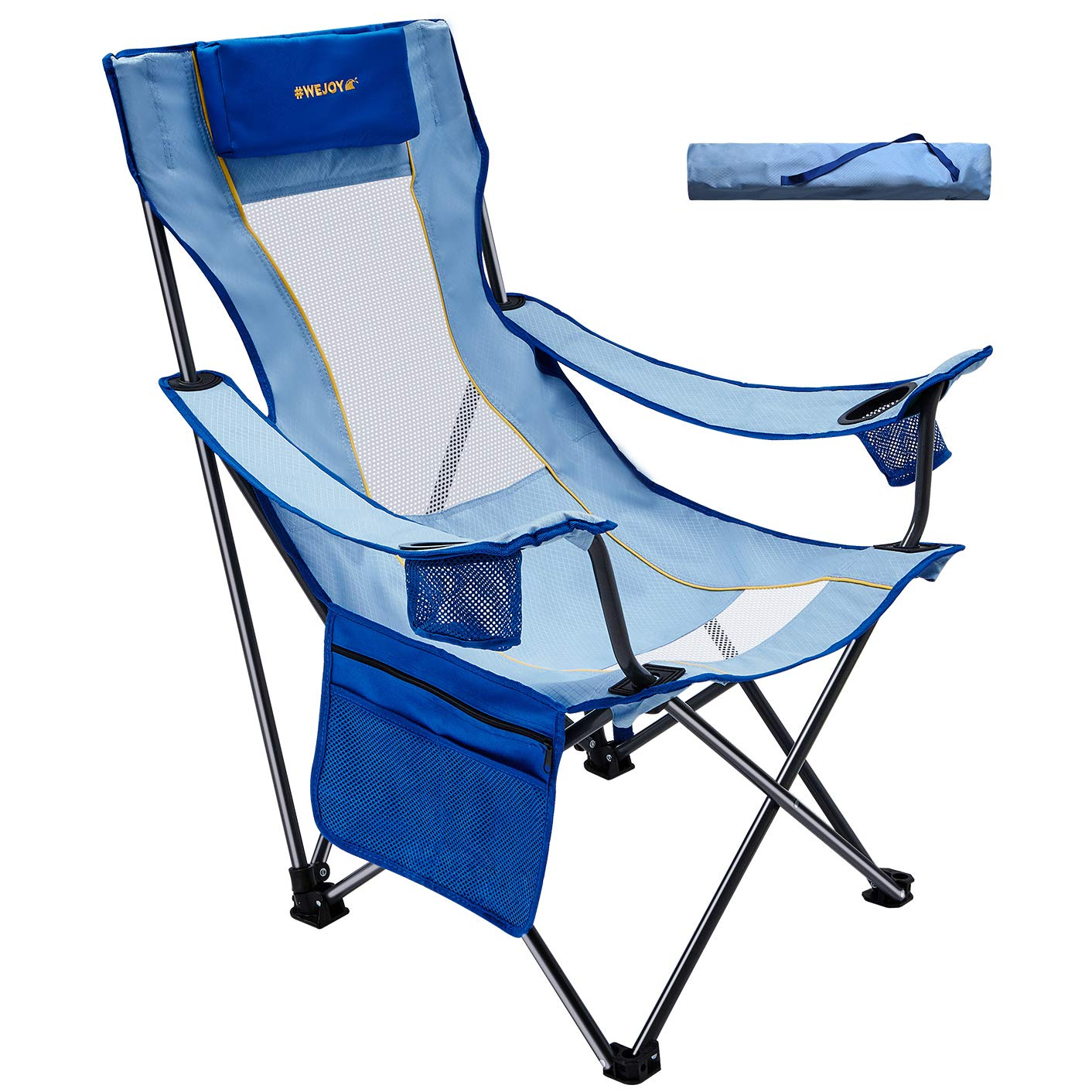 WEJOY Comfortable Seat/Back Folding Beach Chair