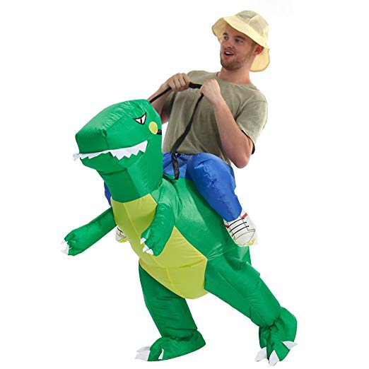 YEAHBEER Dinosaur Inflatable Costume - Funny Halloween costumes