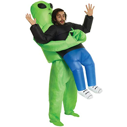 Alien Pick Me Up Inflatable Blow Up Costume - One size fits most - Funny Halloween costumes