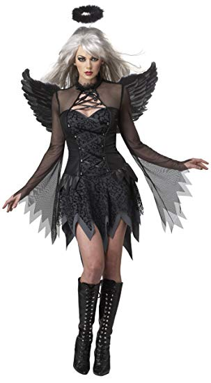 California Costumes Fallen Angel Dress, Black, Large Costume - Women Halloween costumes