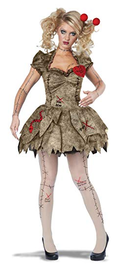 California Costumes Women's Voodoo Dolly Costume, Tan, X-Large - Women Halloween costumes
