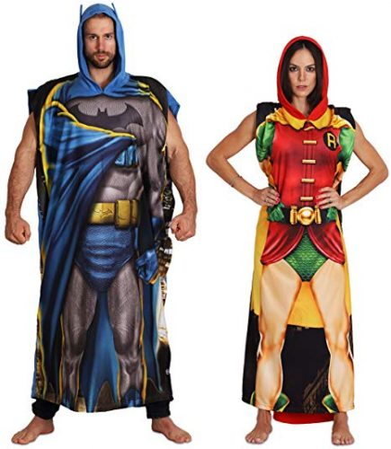 DC Comics Dynamic Duo Batman and Robin Poncho Set Men Women - Couple Halloween costumes