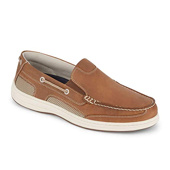 Dockers Men's Tiller Boat Shoe, Dark Tan, 10.5 W US - casual shoes for men