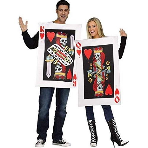 Fun World Men's OneSize Dark King & Queen of Hearts, Multi, OneSize - Couple Halloween costumes