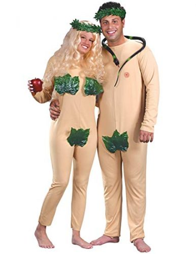 Fun World Unisex-Adult's Adam and Eve Costume Medium - Couple Halloween costumes