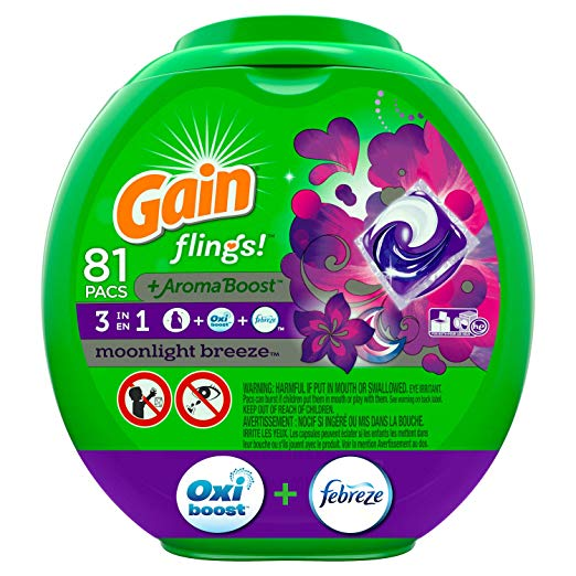 Gain flings! Laundry Detergent Pacs plus Aroma Boost | Fabric Softener