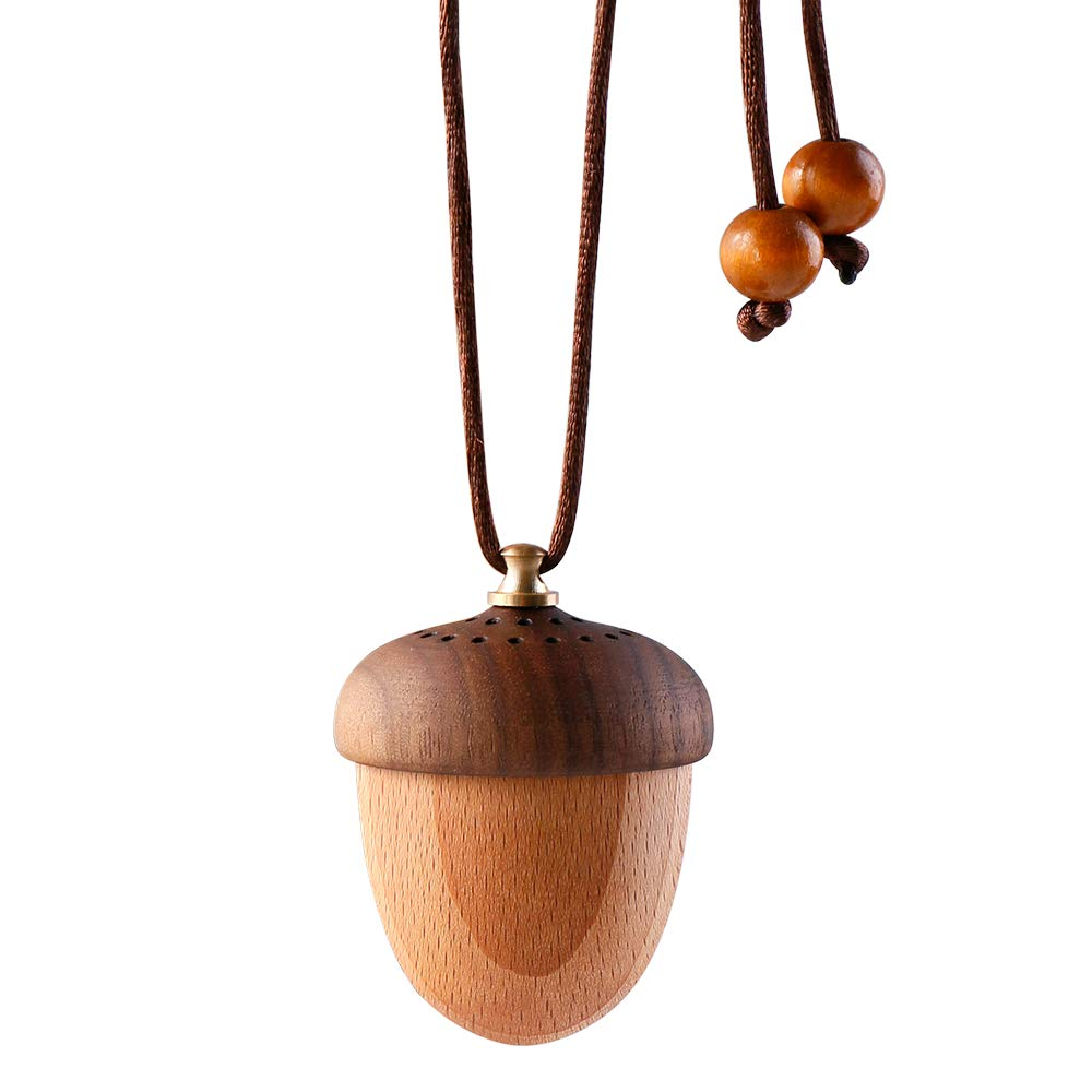 RoyAroma Wooden Acorn Essential Oil Car Diffuser
