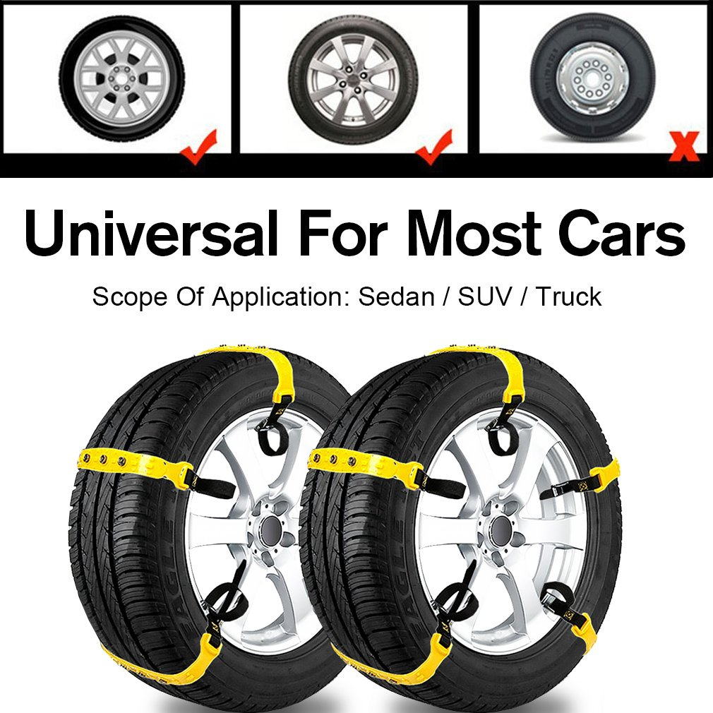 Car Snow Chains Snow Tire Chains for Most Cars Anti   Best snow chains for the car