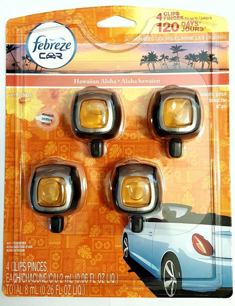 Febreze Hawaiian Aloha Car Vent Clip Air Freshener