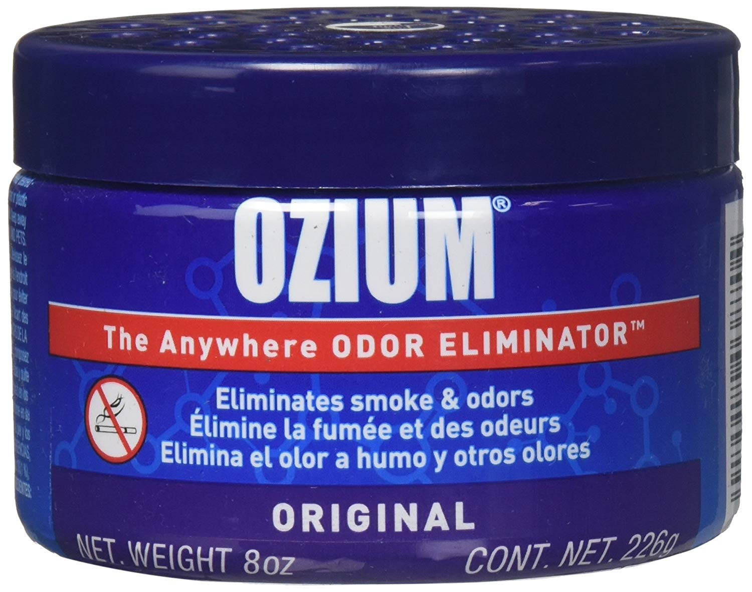Ozium 806326 Large Gel 8Oz Smoke & Odors Eliminator | Car Freshener