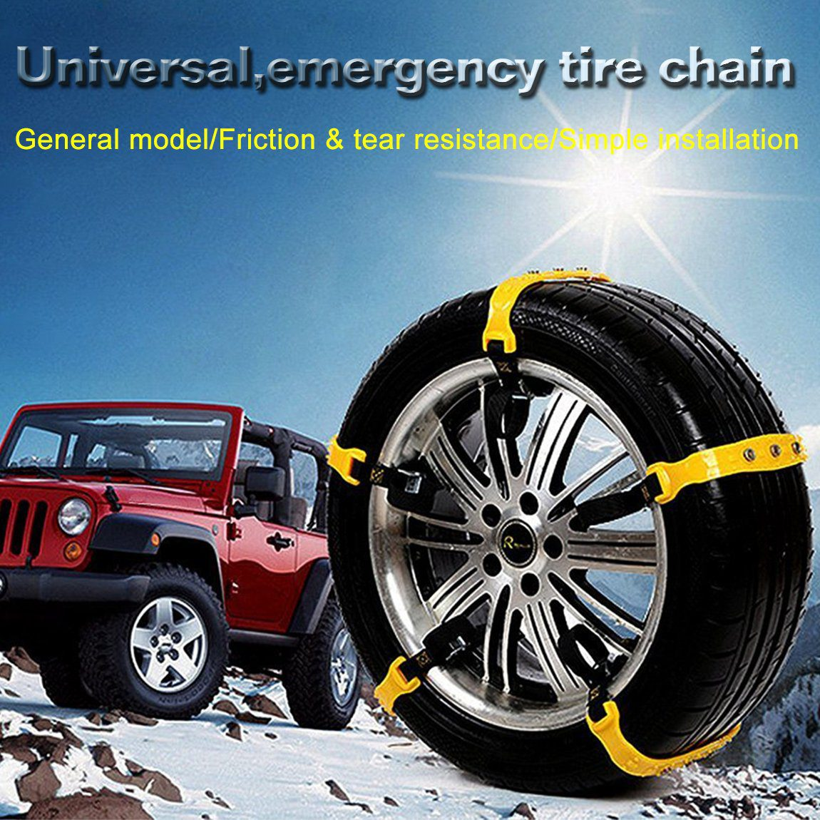 Snow Chains Car Anti Slip Tire Chains Adjustable Anti   Best snow chains for the car