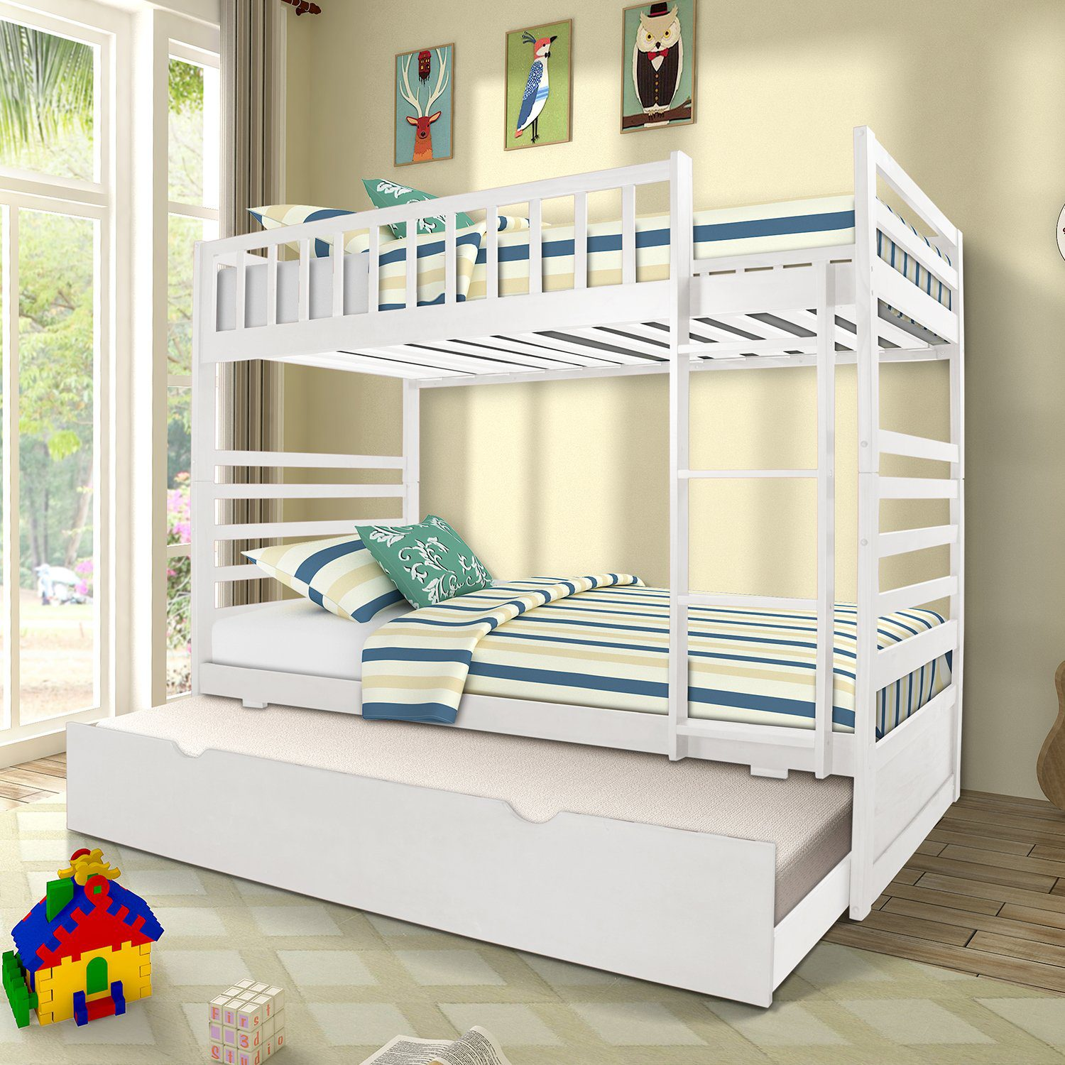 Twin Bunk Beds for Kids Twin Over Full, Twin Bunk Beds