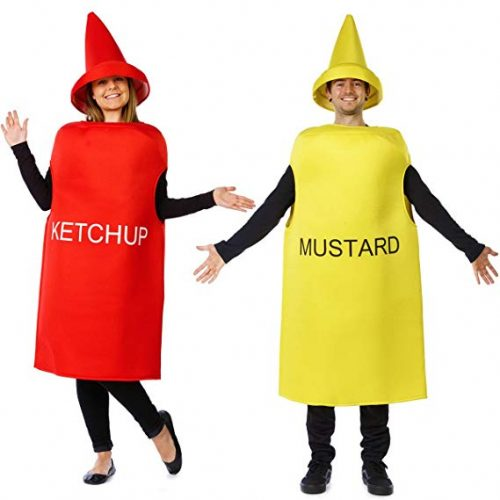 Ketchup and Mustard Costume - Halloween Couples Costumes for Adults - Mascot Costume - Food Costumes by Tigerdoe - Couple Halloween costumes