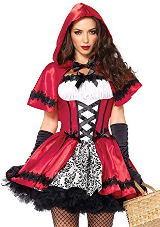Leg Avenue Women's Gothic Red Riding Hood Costume, White, Medium - Women Halloween costumes