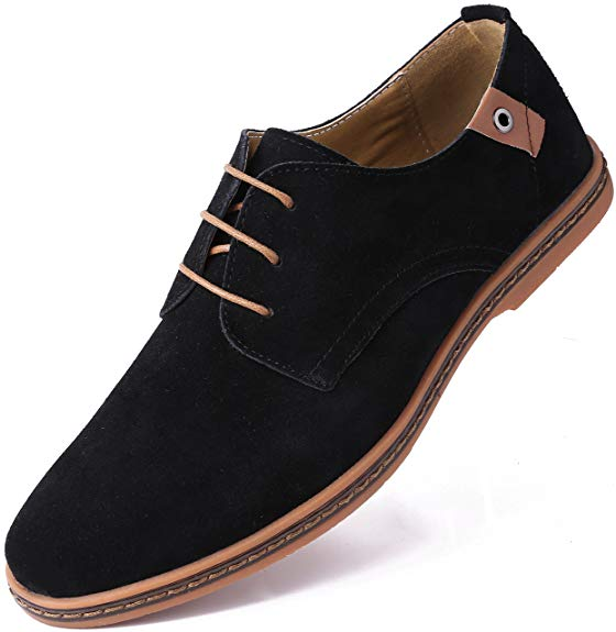 Marino Suede Oxford Dress Shoes for Men - Business Casual Shoes - casual shoes for men