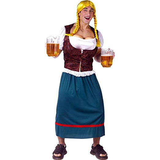 Men's Miss Oktoberbreast Beer Girl Costume - Funny Halloween costumes