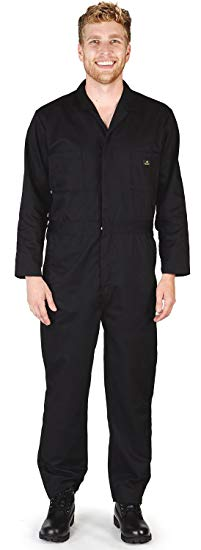NATURAL WORKWEAR - Mens Tall Long Sleeve Basic Blended Coverall, Black 38884-XST - Cheap Halloween costumes