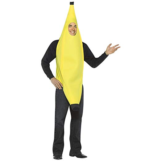 Rasta Imposta Lightweight Banana Costume, Yellow, One Size - Funny Halloween costumes