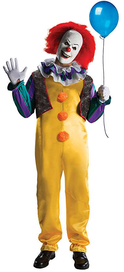 Rubie's IT The Movie Adult Pennywise Deluxe Costume, As As Shown, Standard - Men Halloween costumes