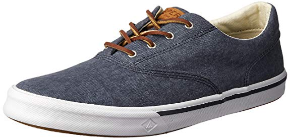 SPERRY Men's Striper II CVO Washed Sneaker, Navy, 16 - casual shoes for men