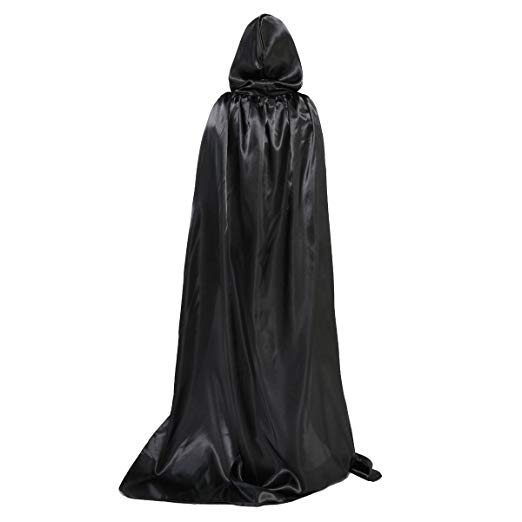 WESTLINK Cloak with Hood Costume Hooded Cape (23-66 inches) Black - Cheap Halloween costumes