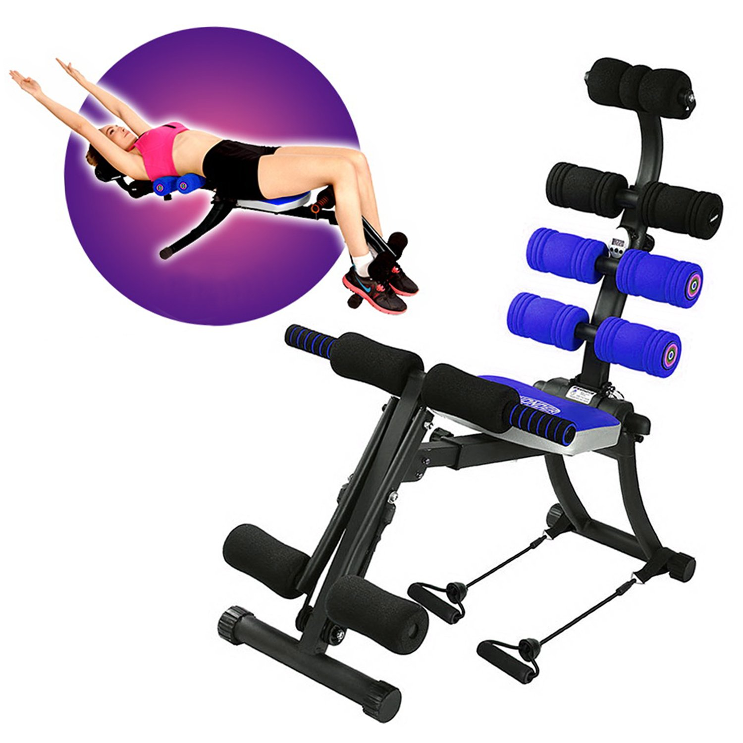 SYOSIN (22-1 Foldable Ab Exercise Machine Gym