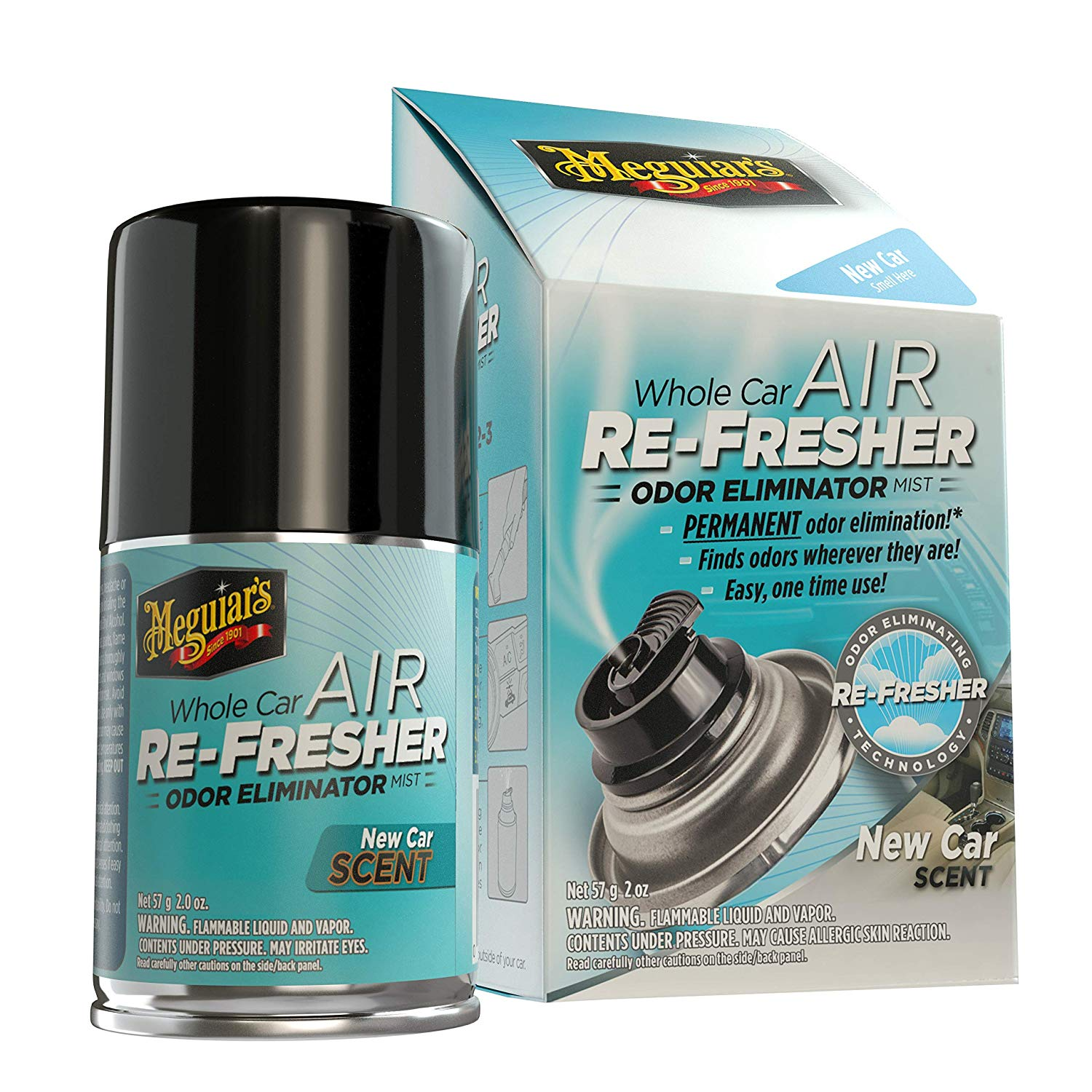 MEGUIAR'S G16402 Whole Air Re-Fresher Odor Eliminator Mist | Best Car Scents