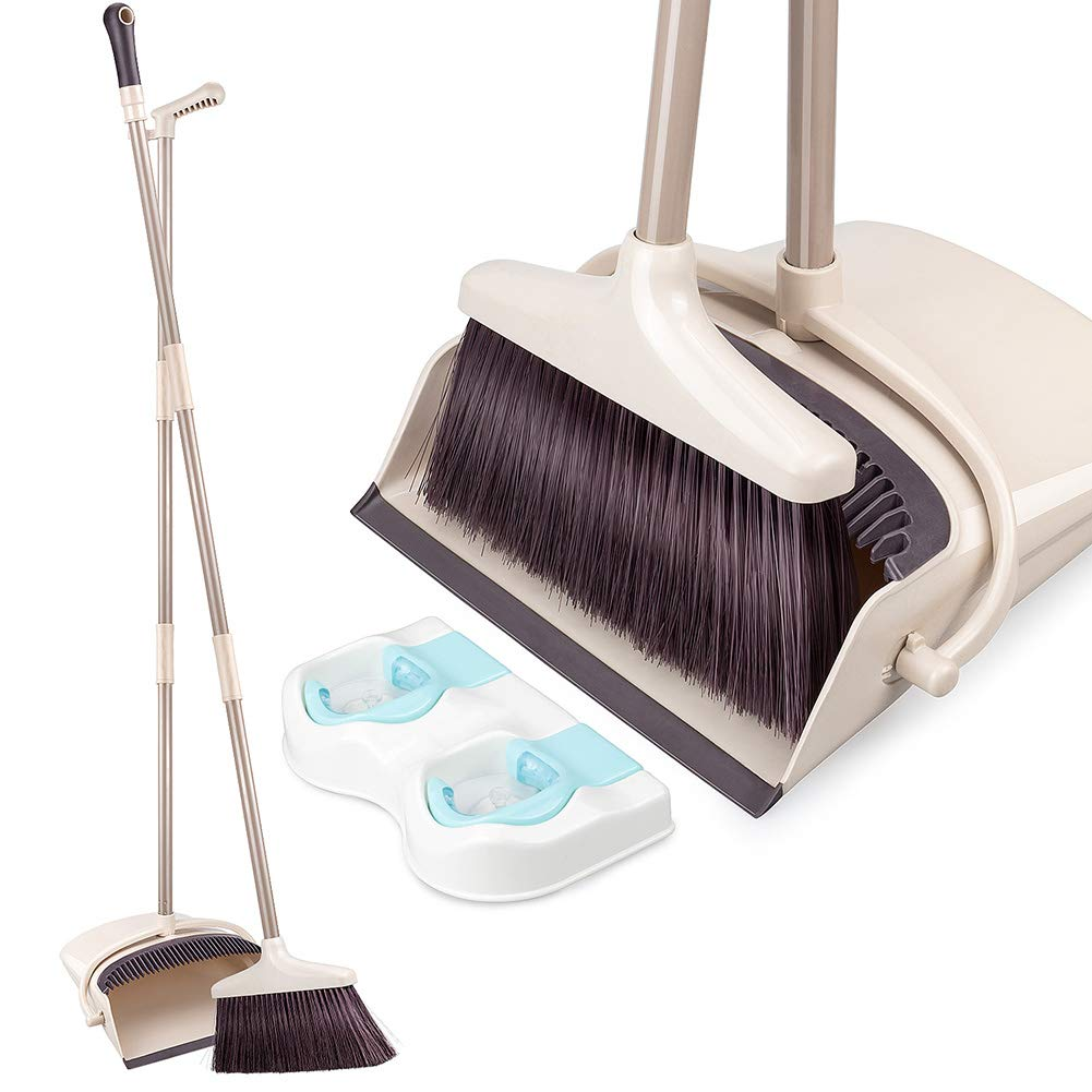 Broom and Dustpan Set with Long Extendable  | Best Brooms