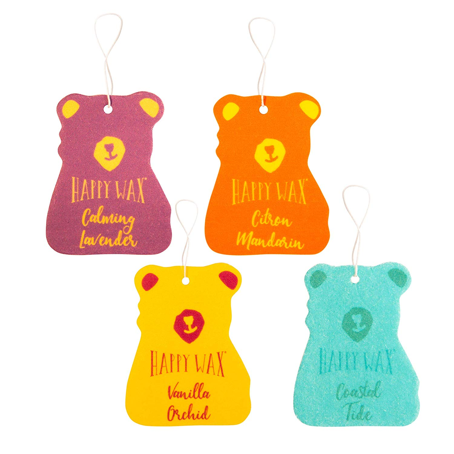 Happy Wax Scented Hanging Car Cub Air Freshener | Best Car Scents